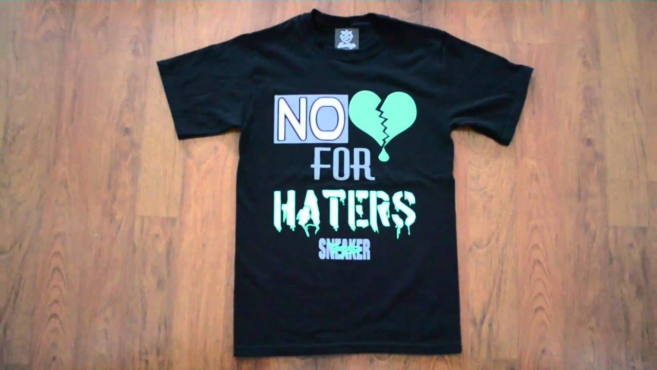 55f896ccb651 SneakerGeeks t-shirt to match Jordan 4 Green Glow - YouTube