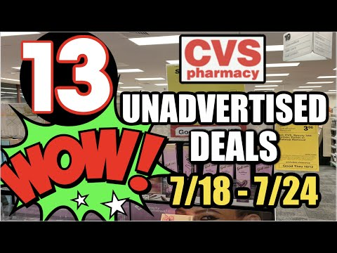 CVS UNADVERTISED DEALS (7/18 – 7/24)   MONEYMAKER, UPDATES & MORE!
