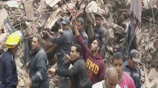 Raw: Deadly Building Collapse in Egypt