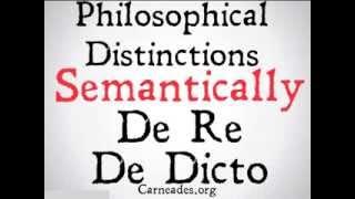 Semantically De Re and De Dicto