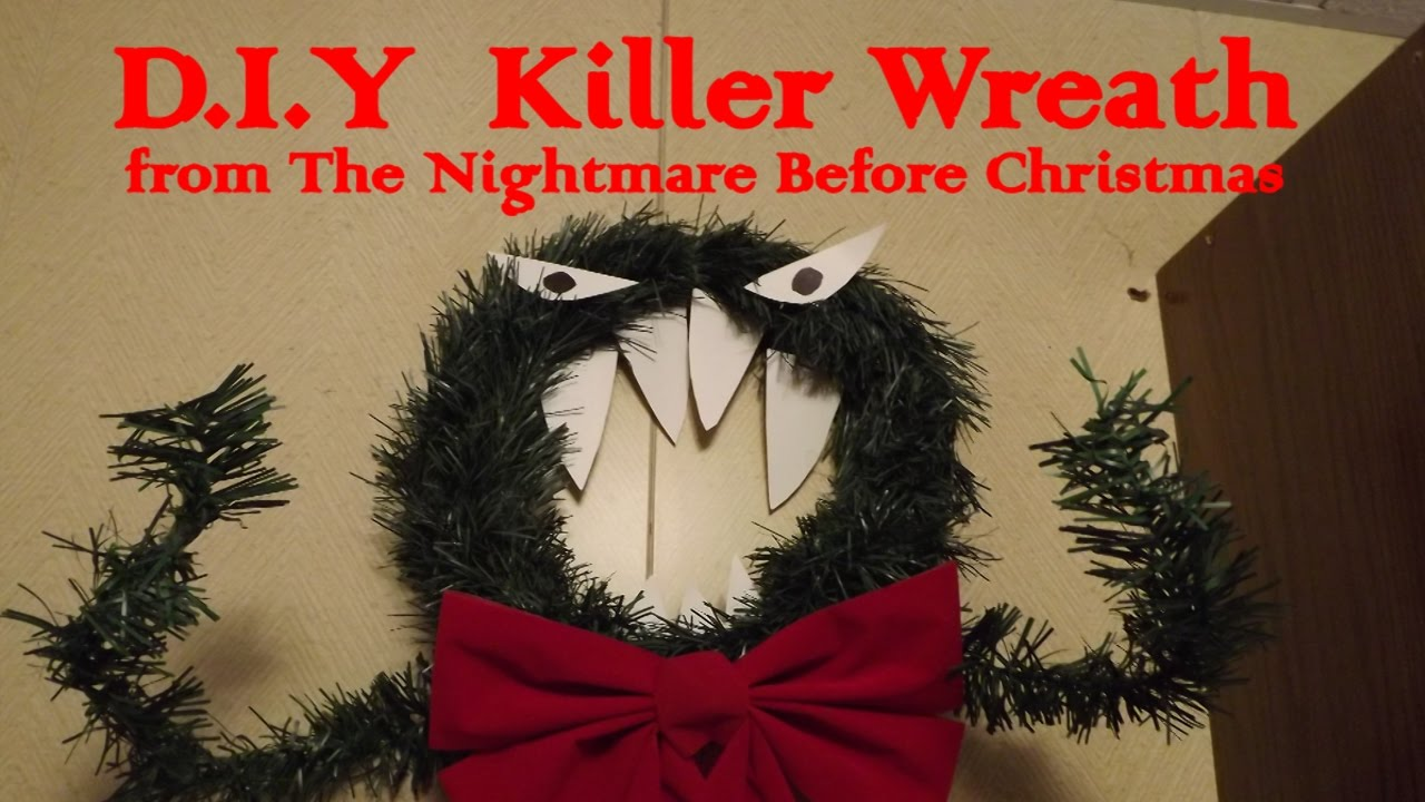 D.I.Y. Killer Wreath from The Nightmare Before Christmas - YouTube