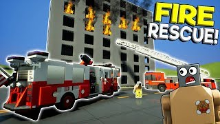 LEGO FIRE & POLICE RESCUE MISSION! - Brick Rigs Multiplayer Gameplay Challenge - Lego