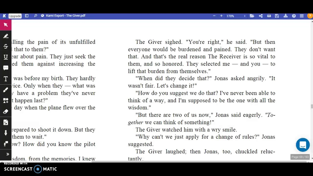 The Giver, Ch. 14 - YouTube