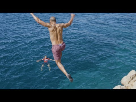 Marvin Humes Goes Cliff Jumping After Being 'Banned' From Ibiza