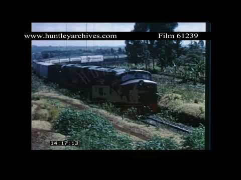 Diesel and Electric Diesel Trains in East Africa.  Archive film 61239