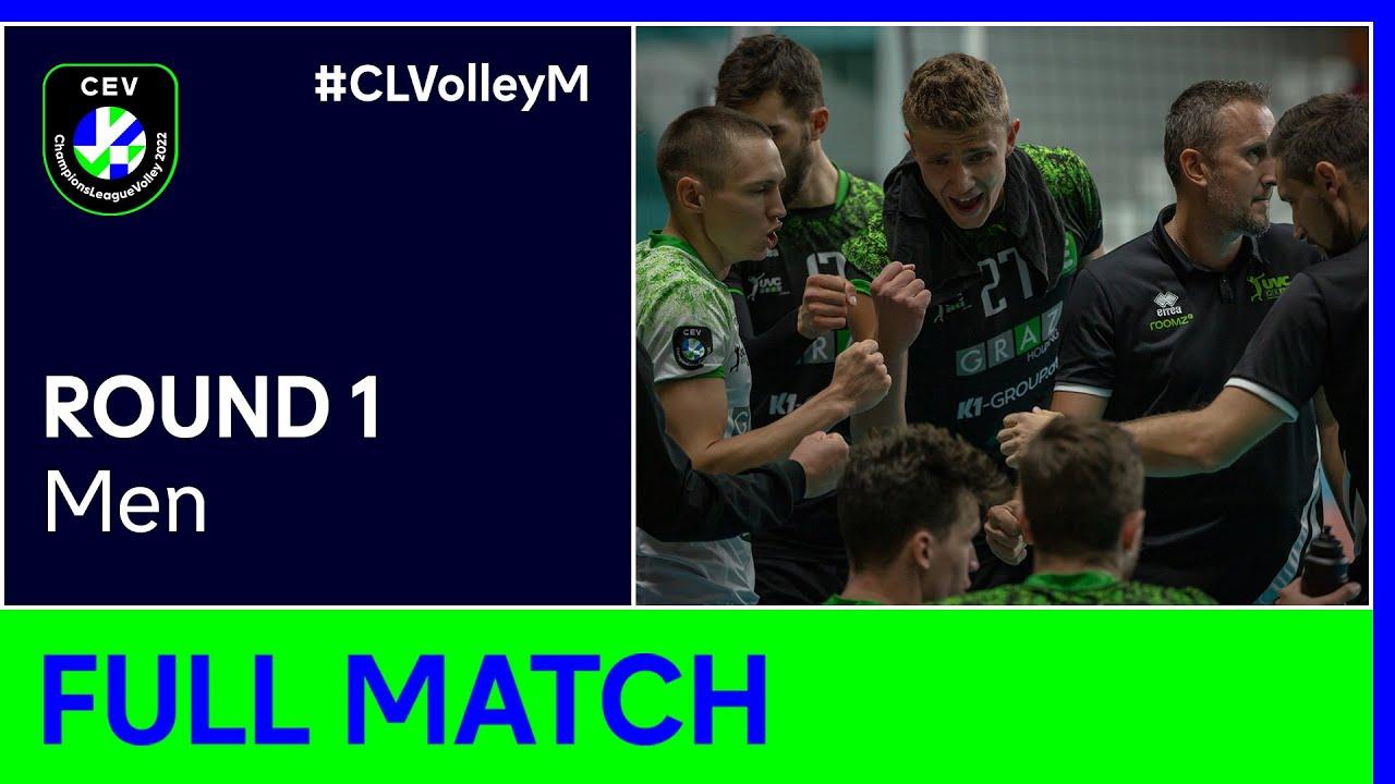 UVC Holding GRAZ vs. Rieker UJS KOMÁRNO - CEV Champions League Volley 2022 Men | Round 1