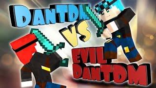 Minecraft DanTDM meets Evil DanTDM (minecraft Hello Neighbor Roleplay)