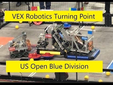 VEX Robotics Turning Point | US Open Blue Division (Some Games, Great Commentator)