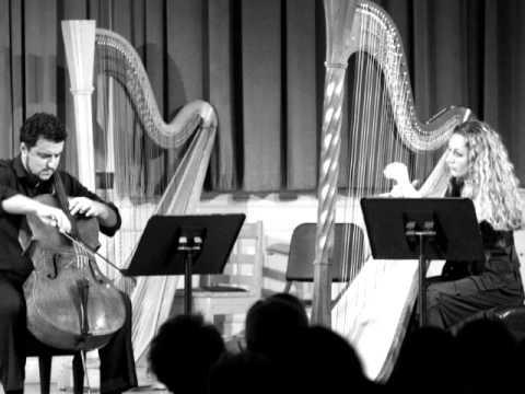 Schubert: Arpeggione Sonata, arr. cello and harp (exposition)