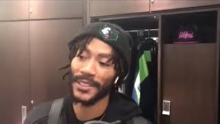 Derrick Rose says Thibs defensive schemes are the same but the NBA doesn't play defense