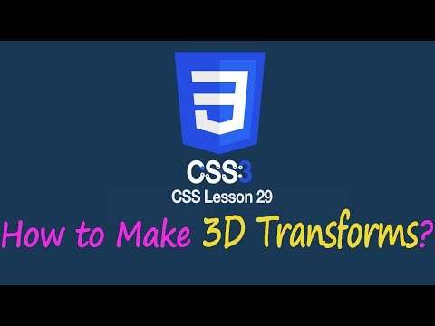How to Make 3D Transformation in CSS?   Lesson 29 CSS Tutorial   SAFHATECH.com thumbnail
