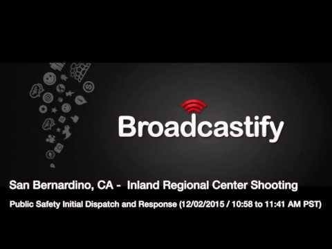 San Bernardino, CA Shooting Initial Response  (10:50-11:41 AM PST)