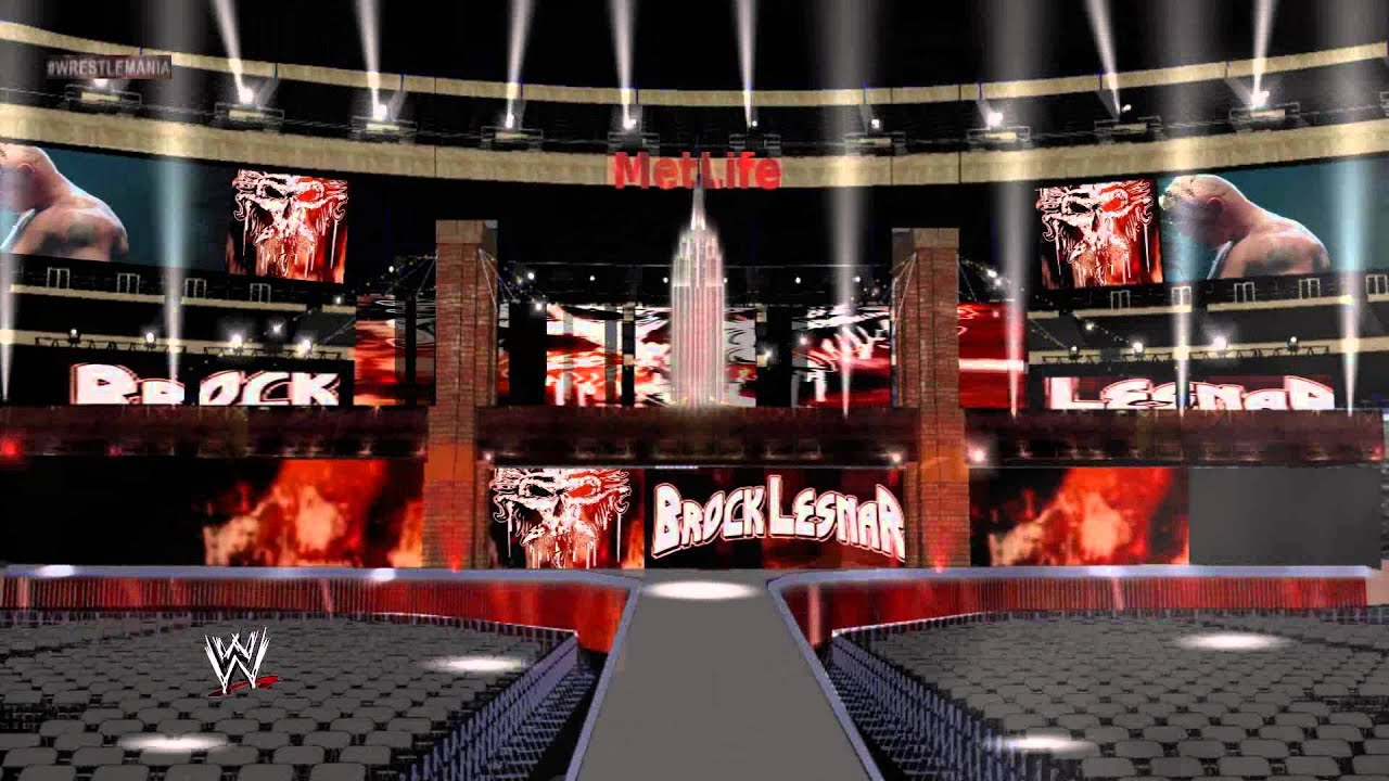Brock Lesnar Wrestlemania 29 Entrance Stage and Pyro - YouTube