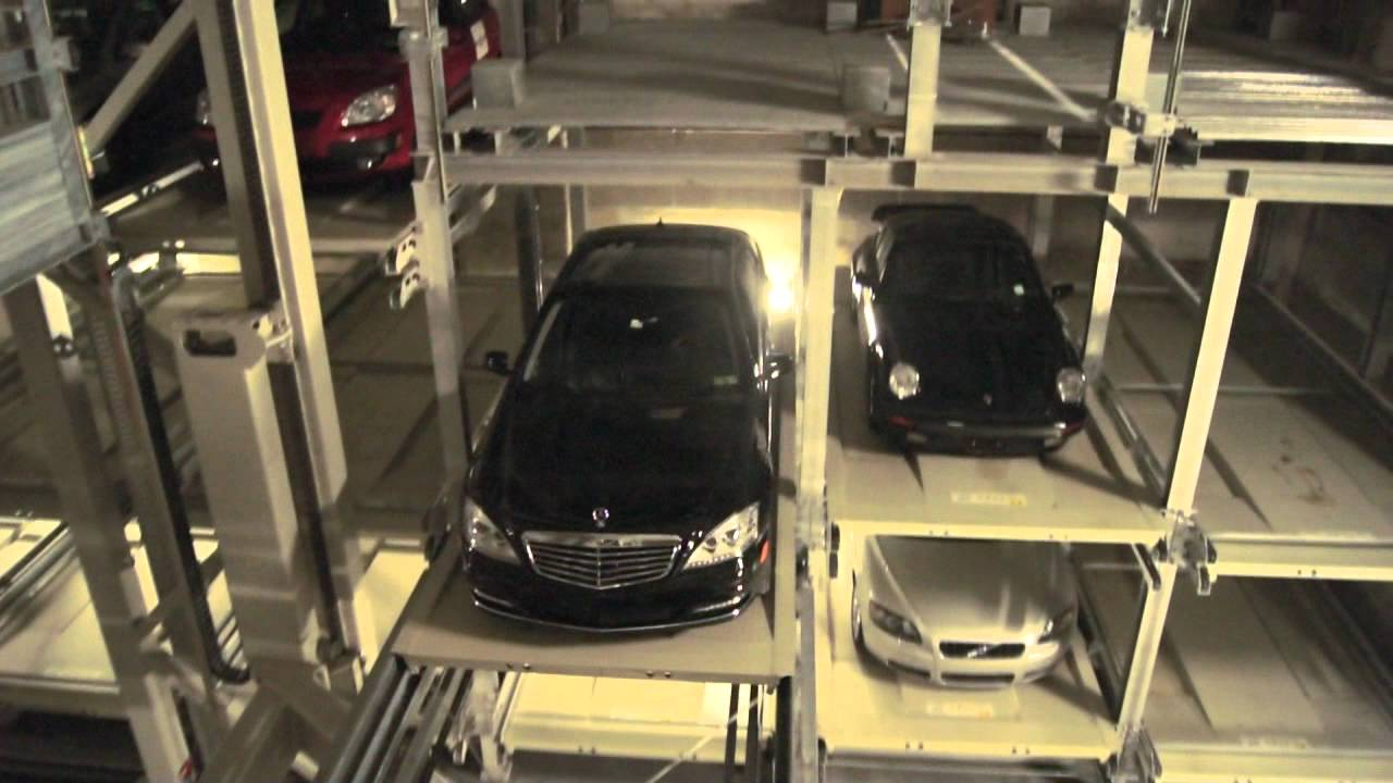 Free Car History Report >> 1706 Rittenhouse Automated Parking Garage - YouTube