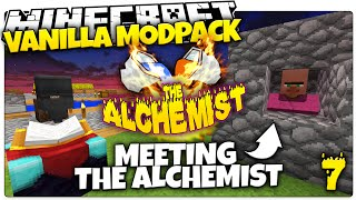 Minecraft | MEET THE ALCHEMIST | ALCHEMIST #7 | Skyblock Vanilla Mod Pack (Minecraft Vanilla Mods)