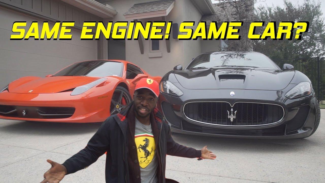 Ferrari 458 Vs Maserati Gran Turismo Are They The Same Car Youtube