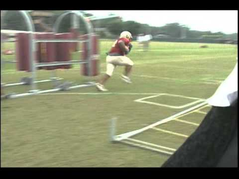 Florida State RB Bag Ladder and Foot Ladder Drills
