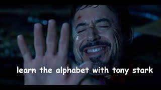learn the alphabet with tony stark