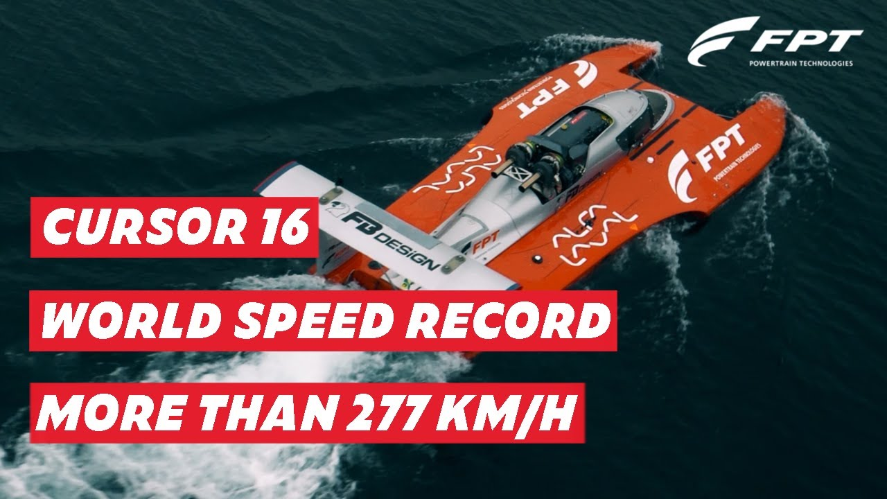 277,5 Km/h: new Powerboat Guinness World Speed Record | FPT Industrial powers Fabio Buzzi