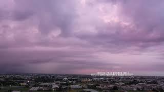 20210709(紫瀑)嘉義西區 夕燒天空 紫色雨瀑奇景