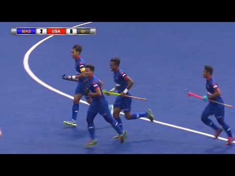 Malaysia v USA Day 4 Sultan of Johor Cup Hockey 2017