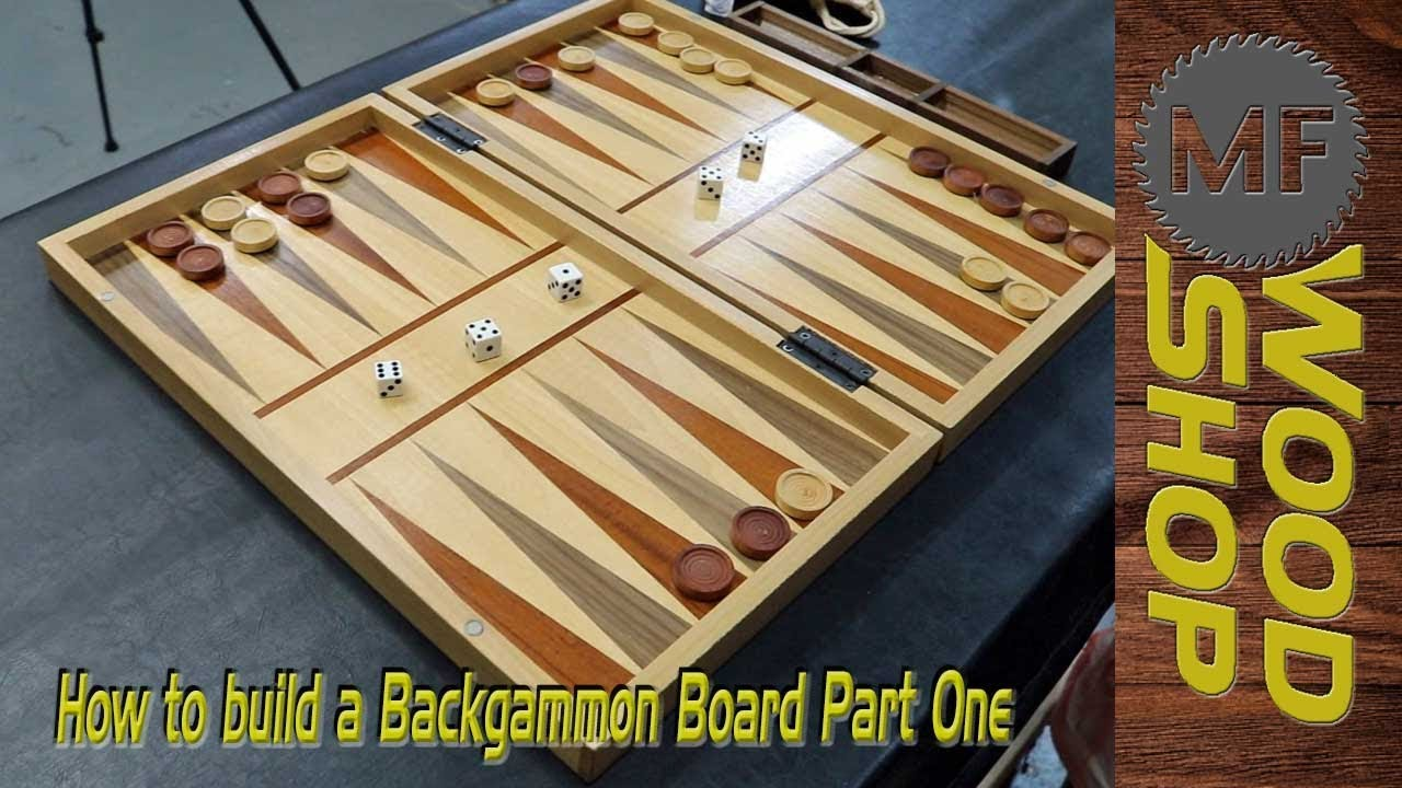 How To Build A Backgammon Board Part 1 Veneer Work