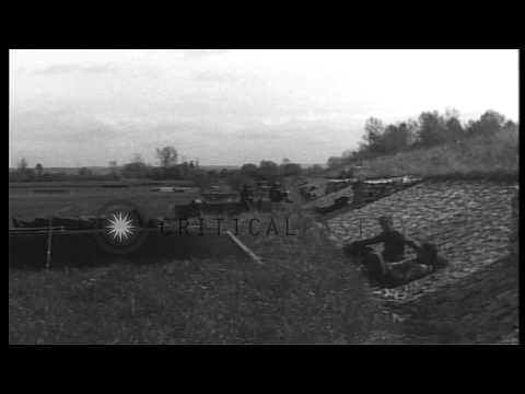 United States 99th Infantry Division soldiers rest in Neustadt, Germany during Wo...HD Stock Footage