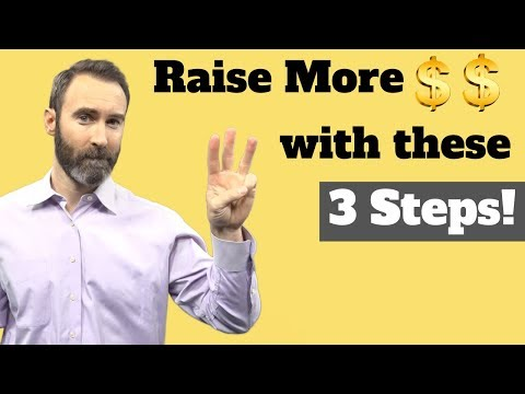 3 simple steps to raise more money