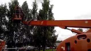 Самоходный подъемник Haulotte H21TX, аренда подъемника в Минске(Haulotte H 21 TX это дизельный телескопический подъёмник с максимальной рабочей высотой 20,8 метра. Грузоподъемнос..., 2015-08-06T13:58:35.000Z)