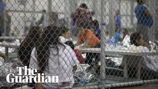 Separated migrant families held in cages at Texas border