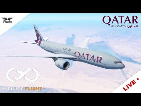 Infinite Flight Global   Qatar 787-8   Toronto (CYYZ) to Doha (OTHH) [Full Flight]