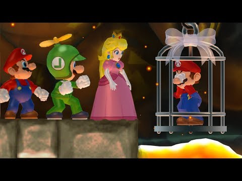New Super Mario Bros. Wii - Peach, Mario and Luigi wants to rescue Mario