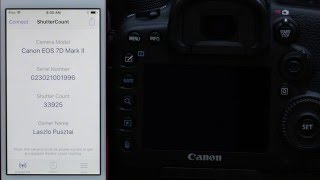 ShutterCount Mobile with Canon EOS 7D Mark II