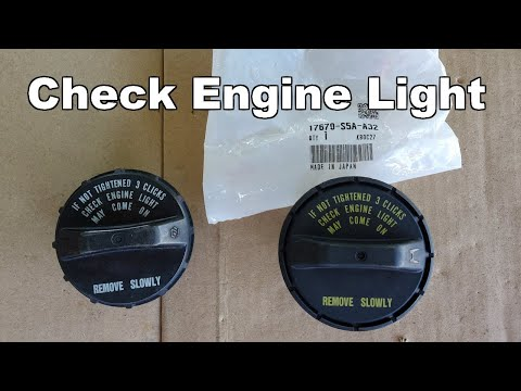 Check Engine Light Gas Cap And Small Evap Leak Fix Youtube