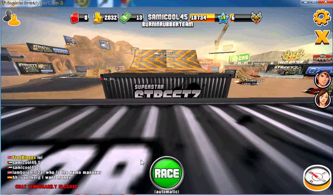 Superstars v8 racing: play slots online.