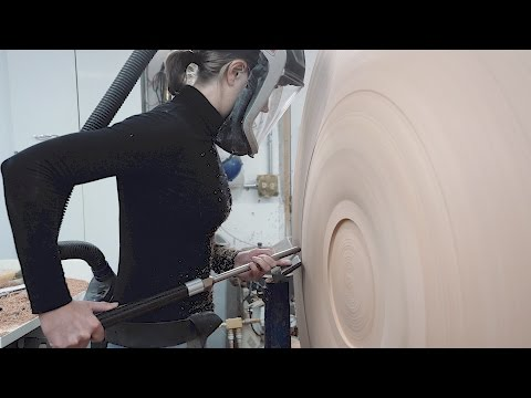 """Turning a 48"""" Table Base on a Robust Lathe"""