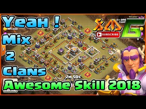 Clash of Clans⭐3-Star TH11⭐Awesome Attack Strategy Skill⭐Mix 2 Clans War⭐