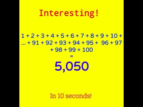 Sum of Numbers from 1 to 100