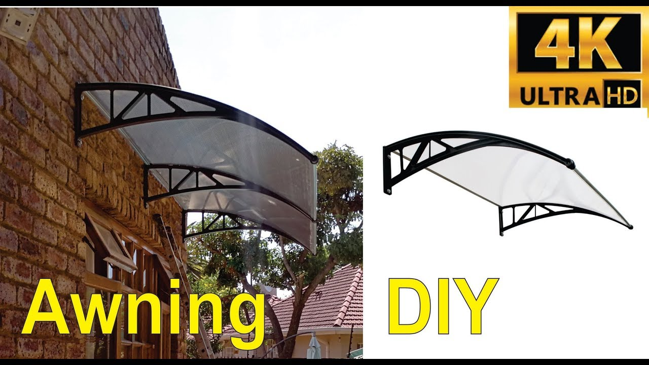 How To Install A Double Plastic Awning Step By Step