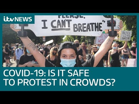 Covid-19: Is It Safe To Protest In Crowds? | ITV News