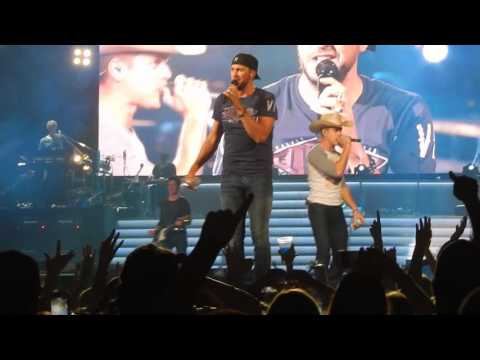 Luke Bryan & Dustin Lynch - Play Something Country - Charleston, WV (4/7/16)