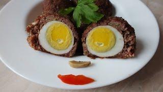 Новогоднее блюдо 2020 Яйцо по шотландски рецепт красиво вкусно оригинально