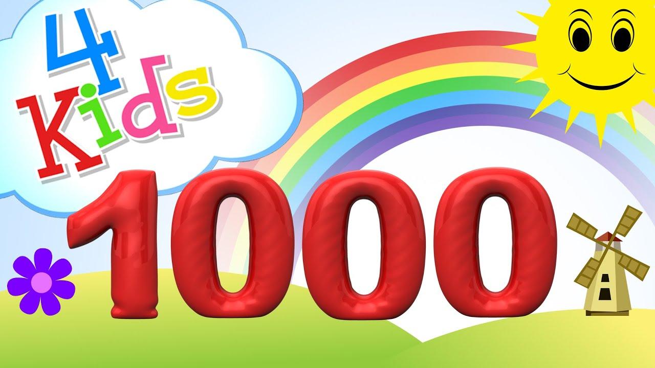 Zahlen lernen fu00fcr Kinder - zu00e4hlen von 100 bis 1000 in 100er Schritten (deutsch) - YouTube