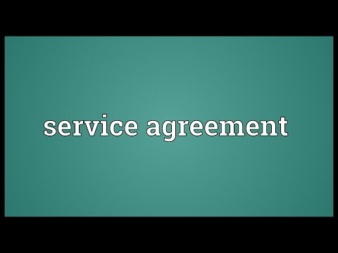 Service agreement Meaning
