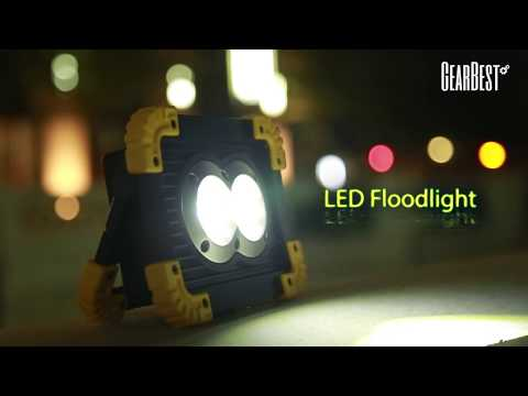 Chargeable Portable Flood Light Charging Bank for Outdoor Camping - GearBest.com