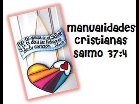 Manualidades Cristianas Letrero En Cartón Salmo 374