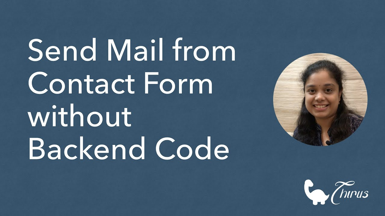 How to Send Mail from Contact Form without Backend Code