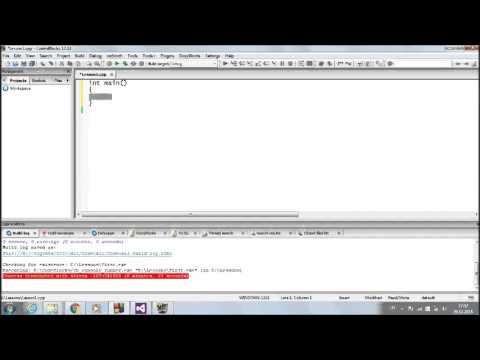 Урок 1: Компиляция и запуск простейшей программы на языке Си.