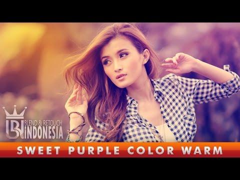 Tutorial Photoshop Sweet Purple Color Warm