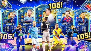 What do you get from 105 Guaranteed Any Team of the Season Packs?